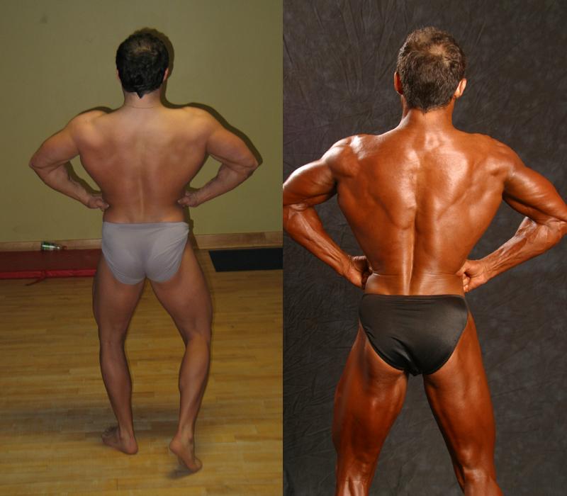 Jim Ribau - Bodybuilding - 2007 06 23 - 04 - Back Lat Spread pose, 12 week comparison