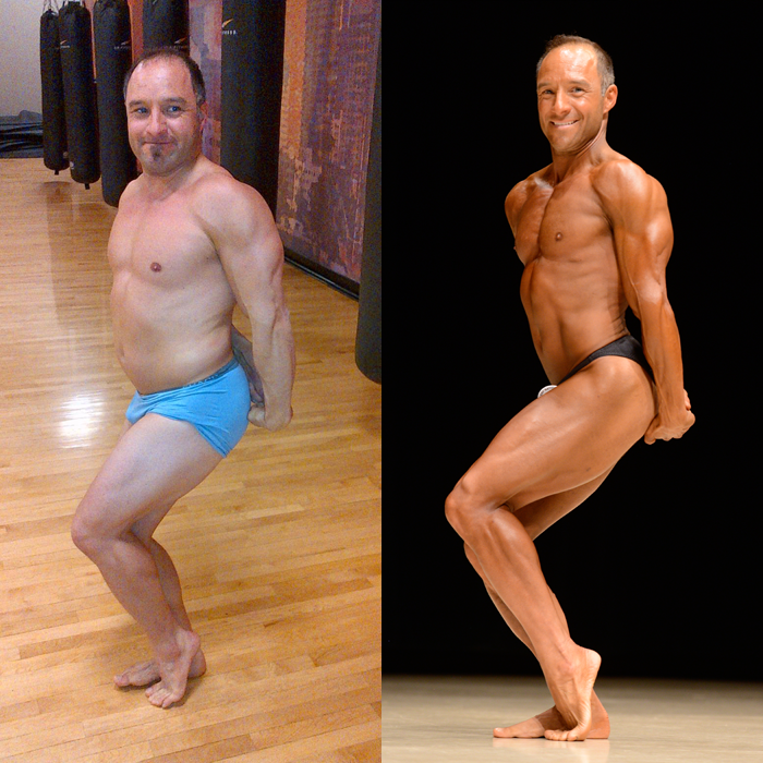 Jim Ribau Bodybuilding - 2013 07 07 - 06 - Tricep 12 week comparison