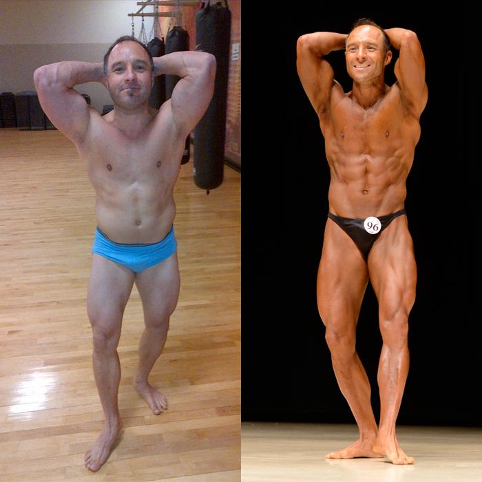 Jim Ribau Bodybuilding - 2013 07 07 - 07 - Side Chest 12 week comparison